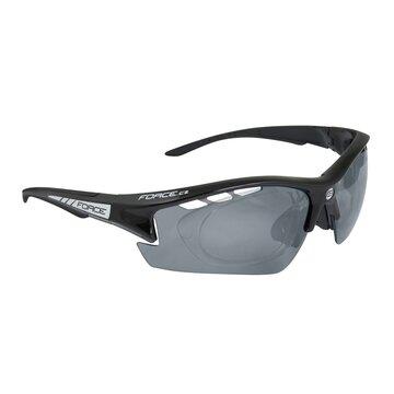 Akiniai FORCE Ride Pro keičiami lęšiai UV 400 (juoda)