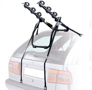Autobagažinė Peruzzo Cruiser Deluxe 3 dviračiam ant galinio dangčio