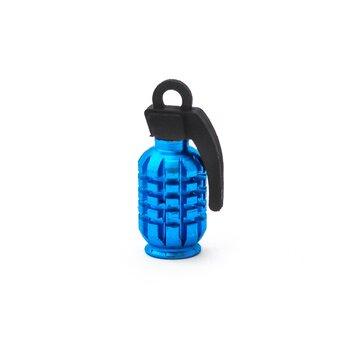 AV (mašininio) ventilio užsukimas - granata (aliuminis, mėlynas)