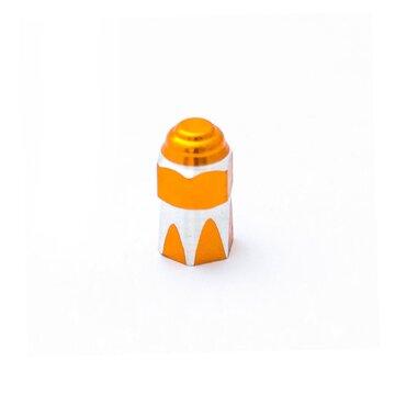 AV (mašininio) ventilio užsukimas - šešiakampis (aliuminis, oranžinis)