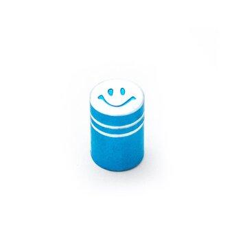 AV (mašininio) ventilio užsukimas - šypsenėlė (aliuminis, mėlynas)