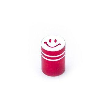 AV (mašininio) ventilio užsukimas - šypsenėlė (aliuminis, raudonas)