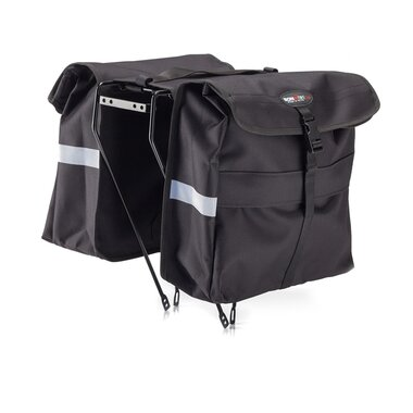 Dviračio krepšiai ant bagažinės Con, 32x15x45cm (juodas)