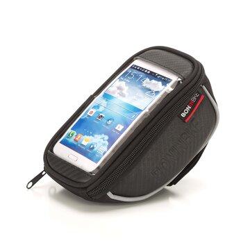 Krepšelis ant vairo iškyšos su telefono dėklu BONIN L 17,5x8,5x7cm (juodas)