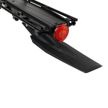 Bagažinė BONIN su skydeliu, tvirtinama ant balnelio stovo 25,0-31,8mm (aliuminė, juoda)