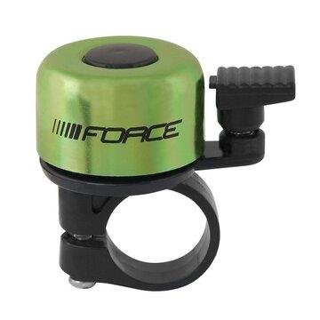 Skambutis FORCE Mini 22,2mm (geležis/plastikas, žalias)