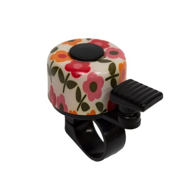 Dviračio skambutis BONIN 35mm (gelsvas su gėlėmis)