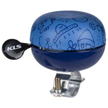 Dviračio skambutis KLS 60 Doodles (mėlyna)