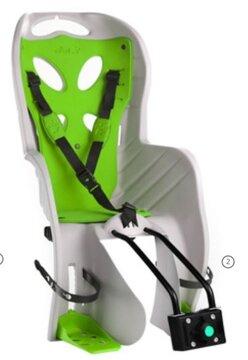 Dviračio kėdutė  'NFUN CURIOSO DELUXE gale ant rėmo 15kg (pilka/žalia)