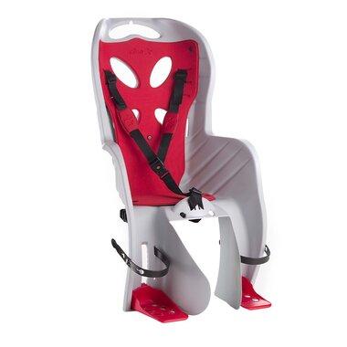 Dviračio kėdutė  'NFUN CURIOSO DELUXE gale ant rėmo 15kg (šviesiai pilka/raudona)
