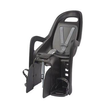 Dviračio kėdutė Polisport Groovy CFS galinė ant bagžinės 22kg (juoda/pilka)