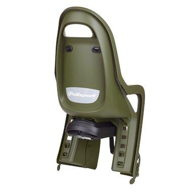 Dviračio kėdutė Polisport Groovy RS+ ant rėmo 22kg (žalia/kreminė)