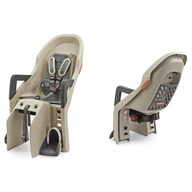 Dviračio kėdutė Polisport Guppy galinė ant bagžinės 22kg (kreminė/pilka)