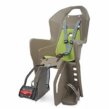 Dviračio kėdutė Polisport Koolah, ant rėmo (ruda/žalia)