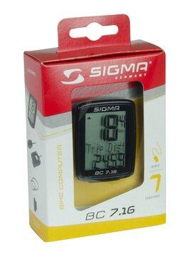 Dviračio spidometras Sigma BC 7.16 laidinis, 7 funkcijos