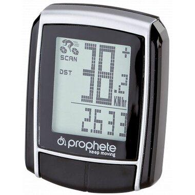 Dviračio kompiuteriukas PROPHETE, 15 funkc.  (juodas)