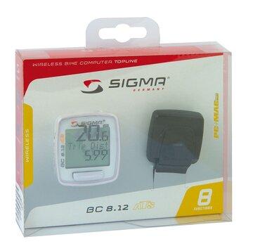 Kompiuteris Sigma BC 8.12 ATS, belaidis, 8 funkcijos (baltas)