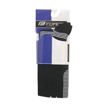 Kojinės FORCE Athletic Pro kompresinės (juoda/balta) dydis 42-47 (L-XL)