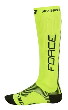 Kojinės FORCE Athletic PRO  kompresinės (fluorescensinės) dydis 42-47 (L-XL)