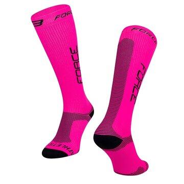 Kojinės FORCE Athletic Pro kompresinės (rožinė/juoda) dydis 42-47 L-XL