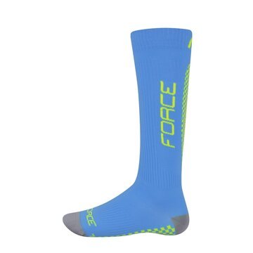 Kojinės FORCE Tessera kompresinės (mėlyna/fluorescentinė) dydis 36-41 (S-M)