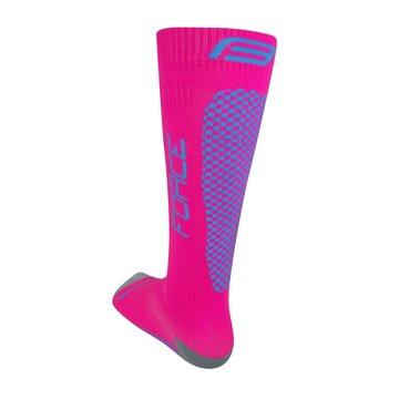 Kojinės FORCE Tessera kompresinės (rožinė/violetinė) dydis 36-41 (S-M)