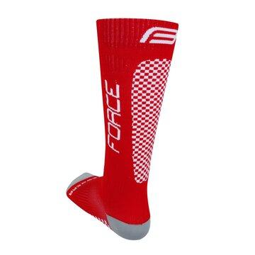 Kojinės FORCE Tessera kompresinės (raudona/balta) dydis 42-47 (L-XL)