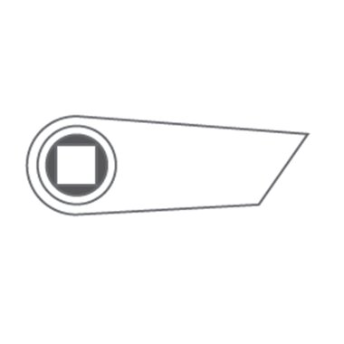 Švaistiklis kairys 170mm (aliuminis, juodas)