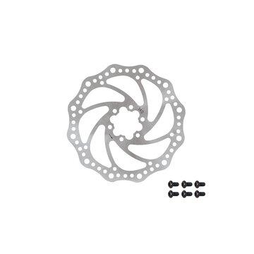 Stabdžių diskas FORCE 140 mm, 6 varžtai (sidabrinis)