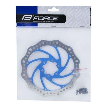 Stabdžių diskas FORCE 160 mm, 6 varžtai (mėlynas)