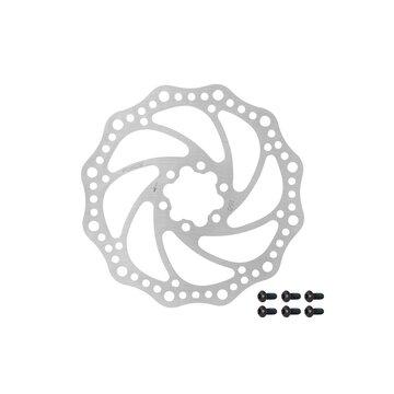 Stabdžių diskas FORCE 160 mm, 6 varžtai (sidabrinis)