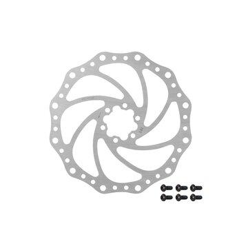 Stabdžių diskas FORCE 180 mm, 6 varžtai (sidabrinis)