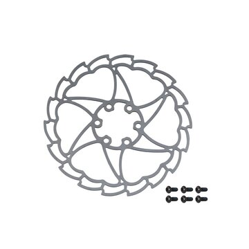 Disc brake rotor FORCE Light 160 mm, 6 holes (silver)
