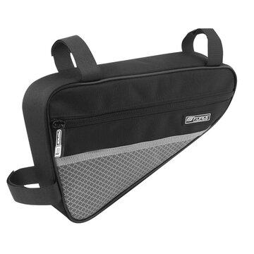Trikampis rėmo krepšys FORCE Long Eco 1,3l (juoda/pilka)