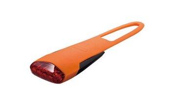 Galinis žibintas KTM LED, pakraunamas per USB (silikoninis, oranžinis)