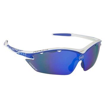Akiniai FORCE Ron keičiami lęšiai UV 400 (balta/mėlyna)