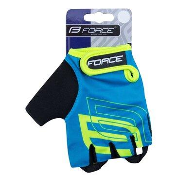 Перчатки FORCE Sport (синий/флуоресцентный) M