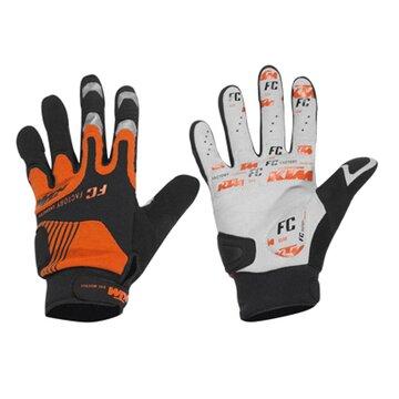 Pirštinės KTM FL ilgos (juoda/oranžinė) dydis M