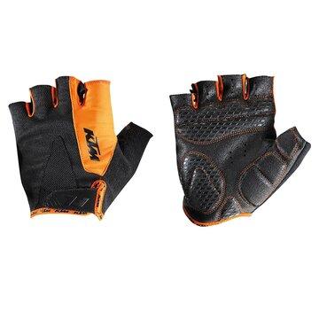 Pirštinės KTM FL trumpos (juoda/oranžinė) S