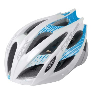 Helmet FORCE Cobra 54-59cm S-M (white/blue/grey)