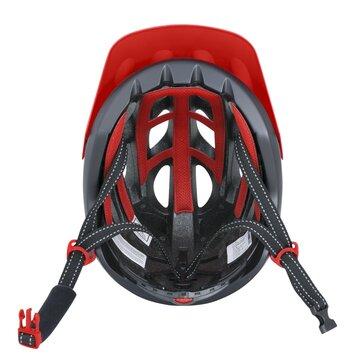 Šalmas FORCE Raptor MTB 54-58cm S-M (juoda/raudona)