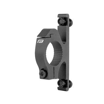Gertuvės laikiklio adapteris and vairo FORCE 22,2-25,4mm (aliuminis, juodas)