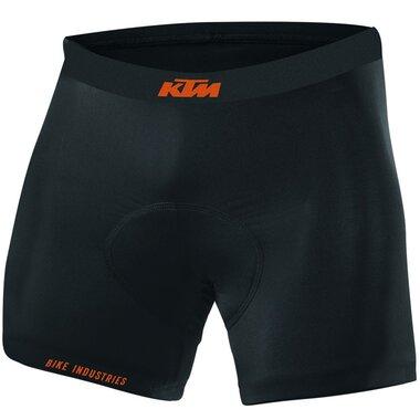 Apatiniai šortai KTM su paminkštinimu (juodi) M-L
