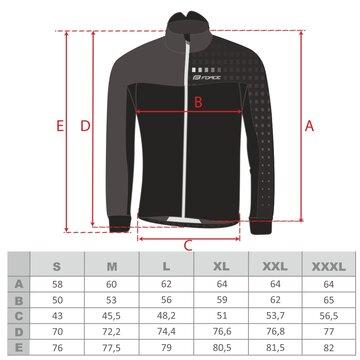 Bliuzonas FORCE X110 Winter (juoda/fluorescentinė) XL