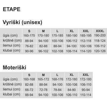 Marškinėliai ETAPE Fortuna (balta/juoda) M