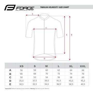 Marškinėliai FORCE Best (juoda/mėlyna) L