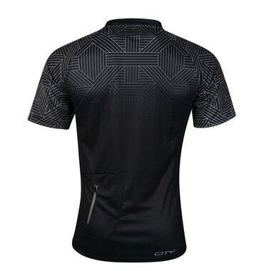 Marškinėliai FORCE City, (juodi/pilki) S