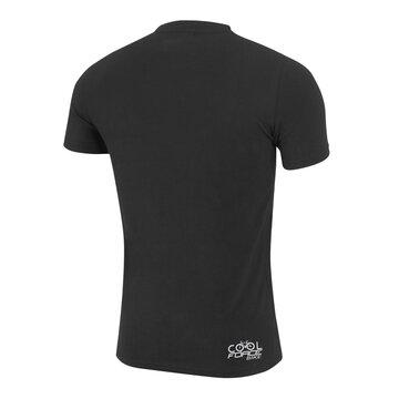 Marškinėliai FORCE Cool Bike (juodi) XL