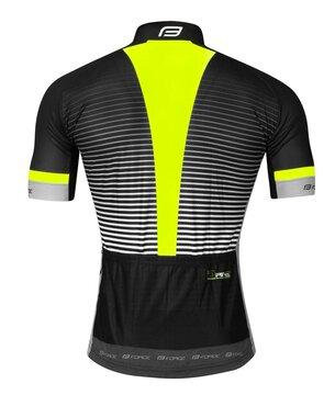 Marškinėliai FORCE Drive (juoda/fluorescencinė) S