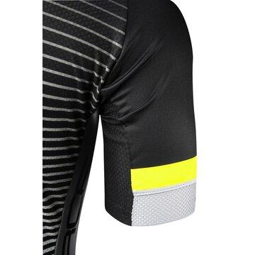 Marškinėliai FORCE Drive (juoda/balta/fluorescentinė) L